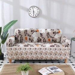 Kwiatowy wzór uniwersalny elastyczny rozciągliwy pokrowiec na sofę przekroju rzut kanapa narożnik pokrowce na meble fotele Home Decor