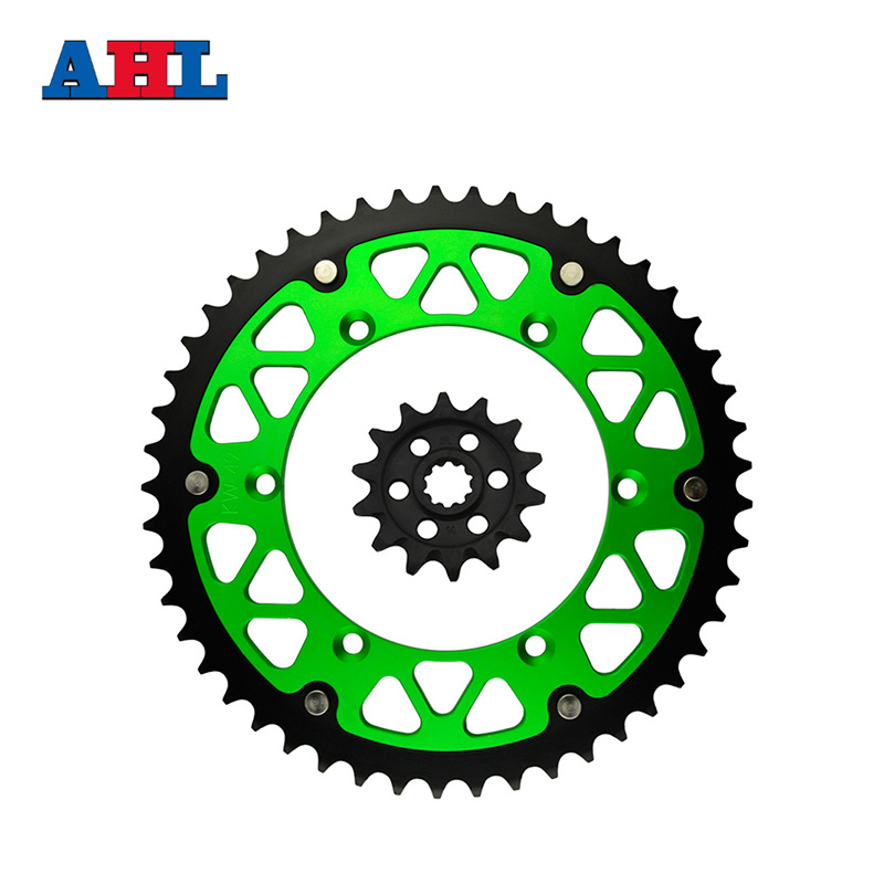 Motorcycle Parts 49-14 T Front & Rear Sprockets Kit For KAWASAKI KX250F KX 250F KX250 KX 250 F 2004-2005 Gear Fit 520 Chain motorcycle parts front
