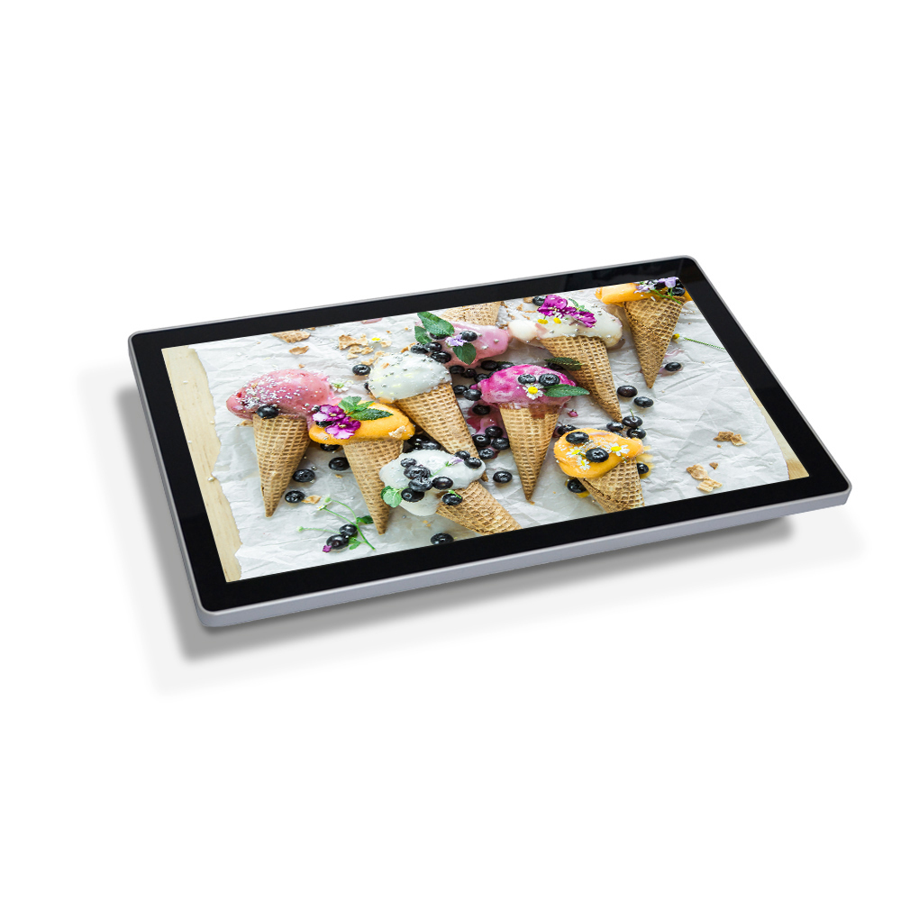 High speed usb copy 1080P 28inch digital frame signage 3x video player signage