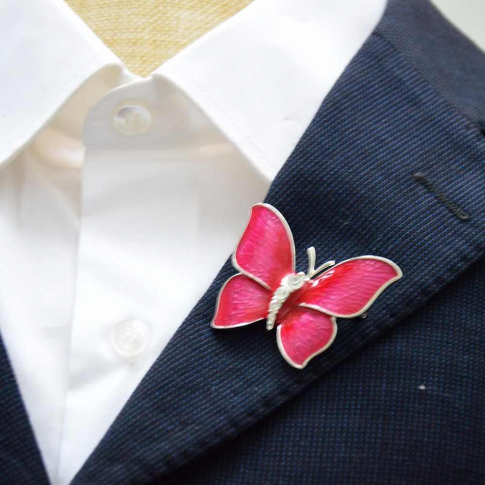 Mziking ใหม่คริสตัลผีเสื้อเข็มกลัด Pin สำหรับผู้หญิง Rhinestone Broches สัตว์ Broche เครื่องประดับเสื้อผ้าอุปกรณ์เสริม Party ของขวัญ Brosh