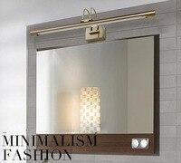 8 w t5 bronze antigo lâmpada de parede lente arca luz à prova dwaterproof água lâmpadas do banheiro compõem espelho iluminação frete grátis