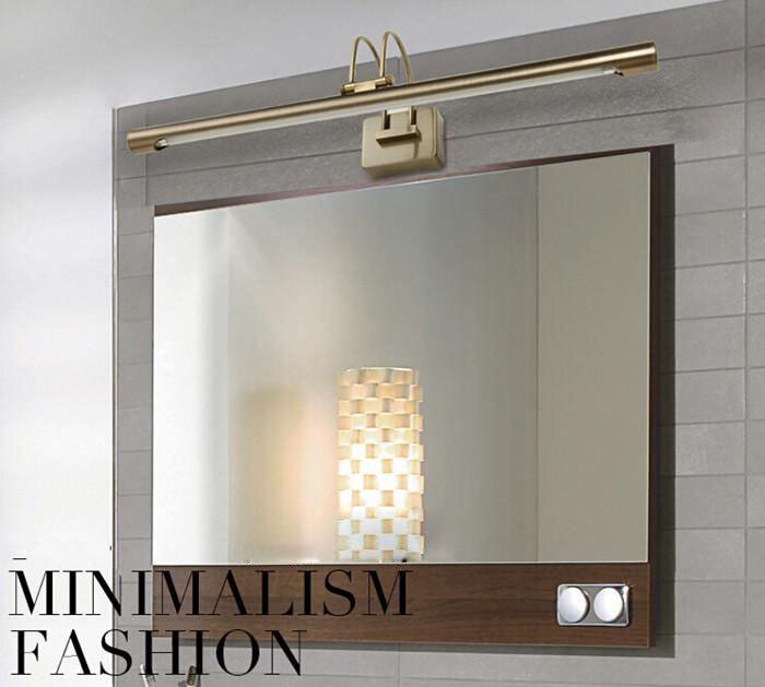 8 w t5 ottone antico lampada da parete lente arca lampade bagno impermeabili leggeri make up