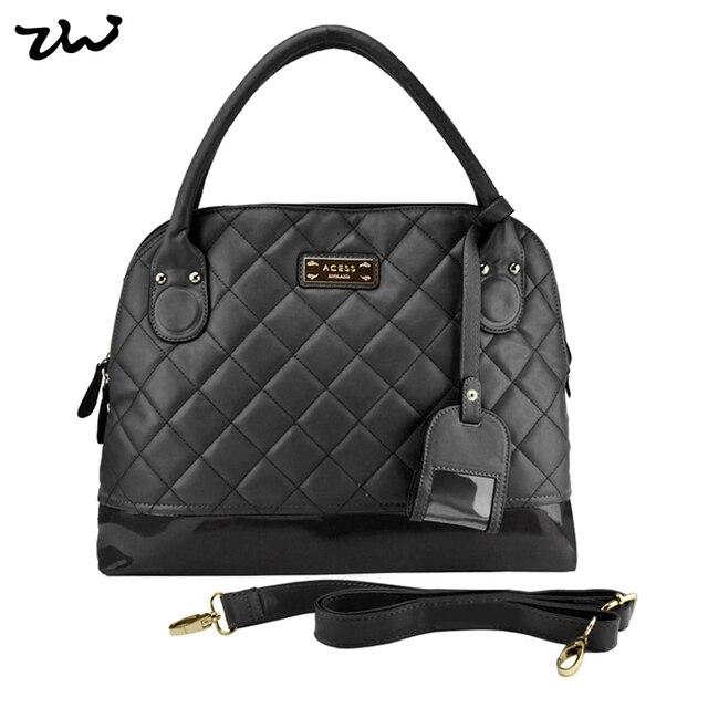 ZIWI Brand Trend Plaid Pattern PU Leather Brand Bag 5 Colors Top Handle Bags Fashion Women Handbags HEC006