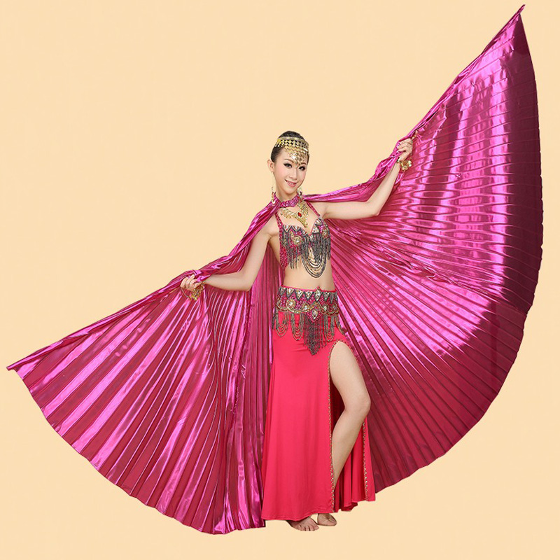 Belly Dancing Costume Wing Belly Dance Isis Wings Transparent Fabric  Golden Color New Style Professional