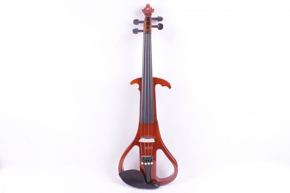 red  4/4 Electric Violin Silent Pickup Fine tone Solid wood  3# the item is the color if you need other color please tell me one red 4 string 4 4 violin electric violin acoustic violin maple wood spruce wood big jack color