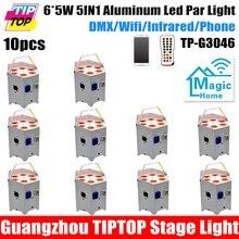 Завод Прямых Продаж 10 Упак. Батареи Пульта Дистанционного Управления LED Par Can 6×5 Вт RGBAW 5IN1 2.4 Г Беспроводной передатчик/Приемник/Приложения