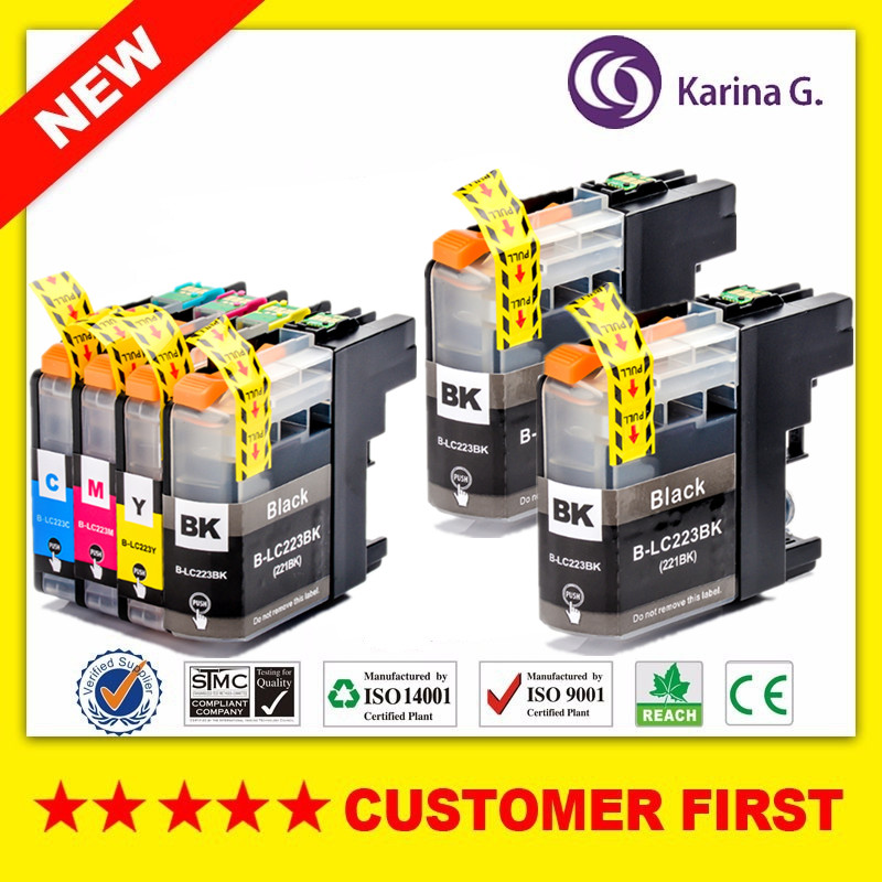 Compatible For Brother LC223  Ink Cartridge For Brtoher DCP-J562DW/J4120DW/MFC-J480DW/J680DW/J880DW/J4620DW/J5720DW/J5320DW(China)