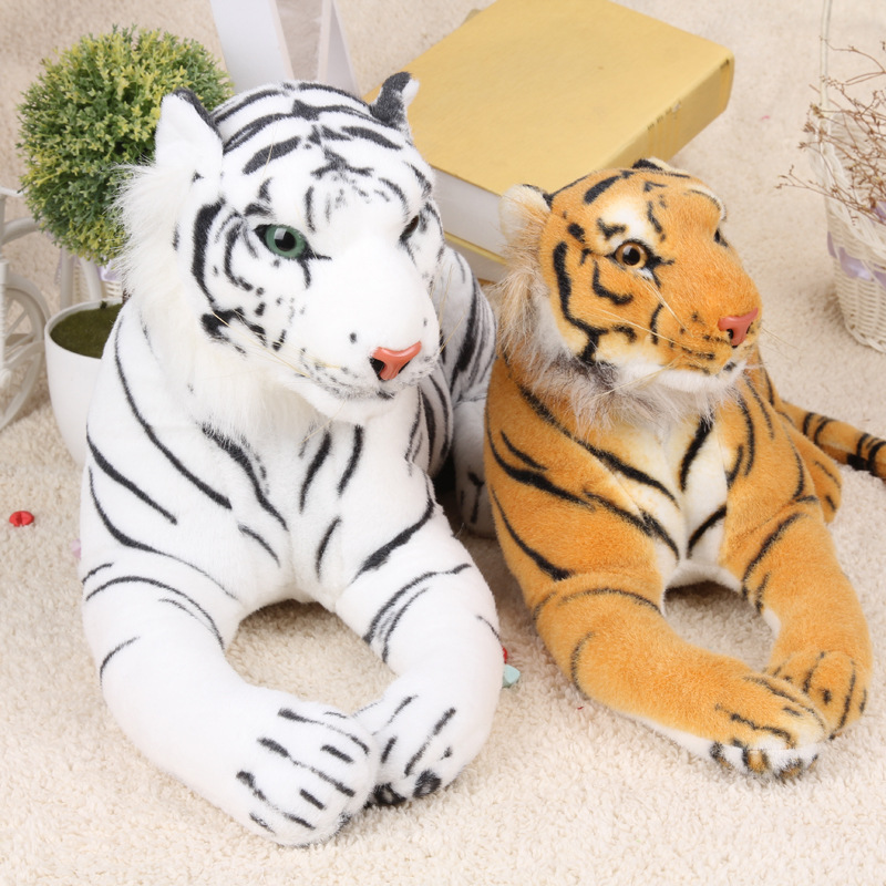 43cm Cute Kawaii Simulation Plush Tiger White And Yellow Stuffed Anime Cushion Pillow Birthday Gifts Toys For Children Kids