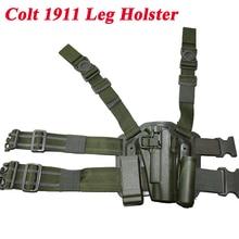 Tactical Colt 1911 Gun Holster Paintball Shooting Military Pistol Hunting Equipment Handgun Leg