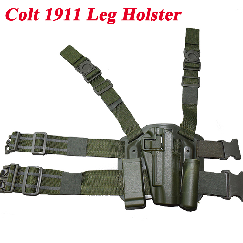 Tactical Colt 1911 Gun Holster Paintball Shooting Military Pistol Holster Hunting Equipment Handgun Leg Holster