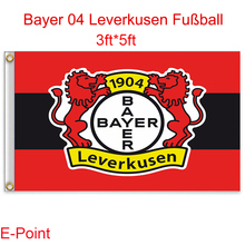1 piece Deutschland (Bundesliga) Bayer 04 Leverkusen FC hanging decoration Flag A 3ft*5ft (150cm*90cm)