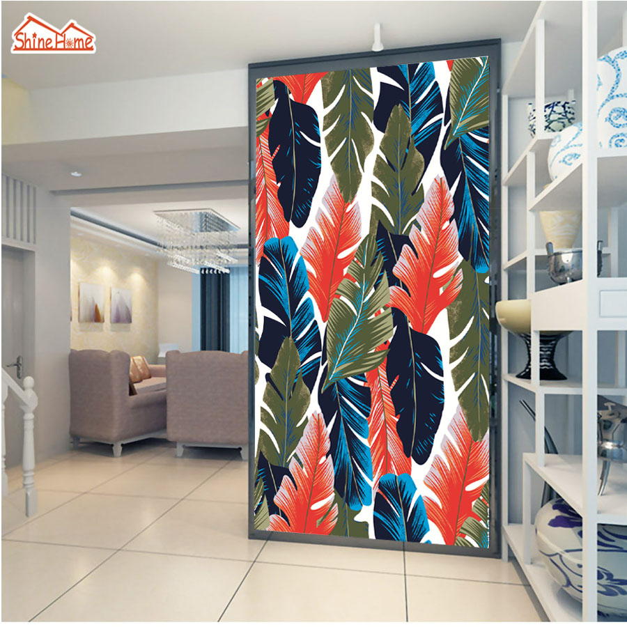 ShineHome-Country Banana Leaf Nature 3d Wallpaper Rolls for Walls 3 d Livingroom Wallpapers Mural Room Wall Paper Home Decor shinehome skyline sea wave sunset seascape wallpaper rolls for 3d walls wallpapers for 3 d living rooms wall paper murals roll