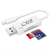 2 In 1 Type C Lightning Micro USB USB 2 0 Memory Card Reader Micro SD