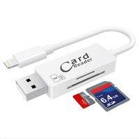 2 In 1 Type C Lightning Micro USB USB 2 0 Memory Card Reader Micro SD