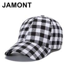 Jamont diseño a cuadros de algodón suave gorra de béisbol hombres mujeres  Casual Strapback Casquette sombrero 6a164f9e5ee