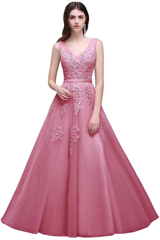 Increíble Vestidos De Dama De Color Burdeos Barato Motivo ...