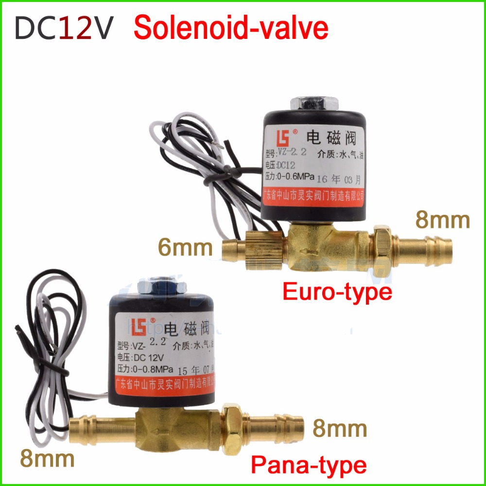 Gas valve / Solenoid valve VZ-2.2 DC12V for Argon arc welding machine