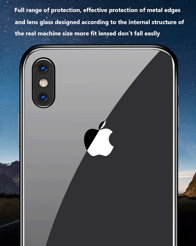 KIPX1118_8_Metal Camera Lens Protector for iPhone X XS XR XS Max 360 Full Protection Anti-scratch Camera Protective Cover