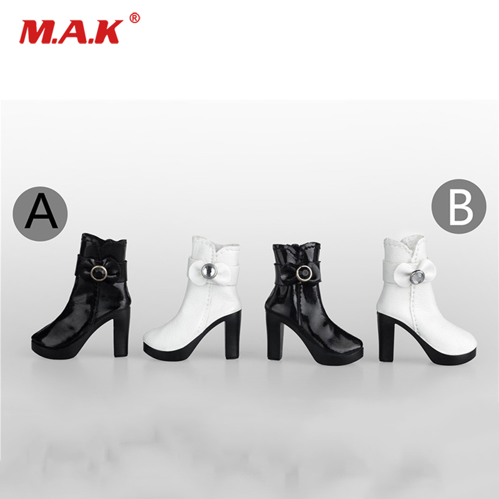 1//6 Zipper High Boots Fashion Shoes Model For 12/'/' Phicen Figure Female Body Toy