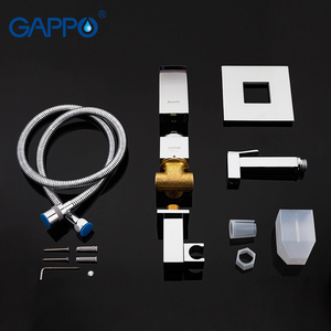 Image 5 - Gappo bidet faucet Bathroom bidet shower set Shower faucet toilet bidet muslim shower Brass wall mounted washer tap mixer G7207