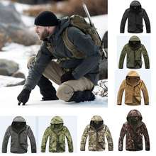 Softshell Tactical Men Sport Jacket Camoufalge Hunting Clothes Outdoor Waterproof Hooded Coat Military Army Jacket недорого