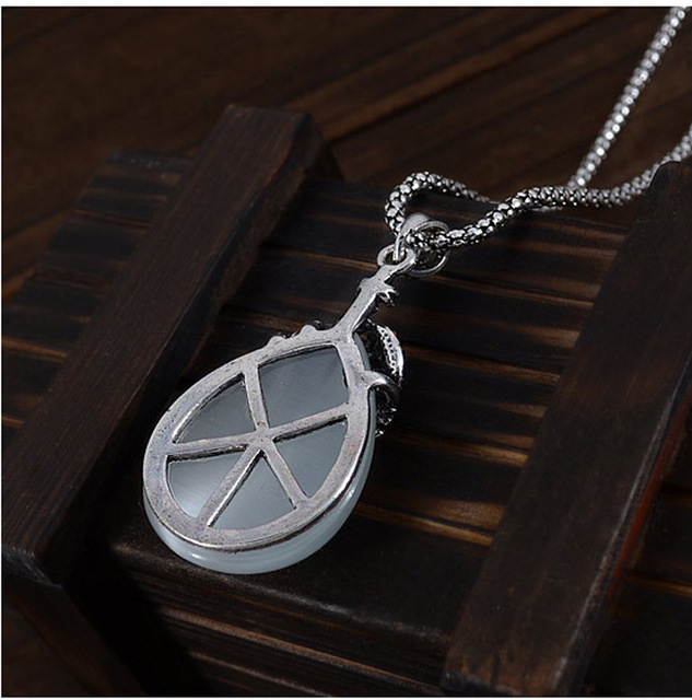 JEXXI Vintage Water Drop Pendant Necklaces Earrings Set  Silver Wedding Engagement Jewelry Sets for Women 4