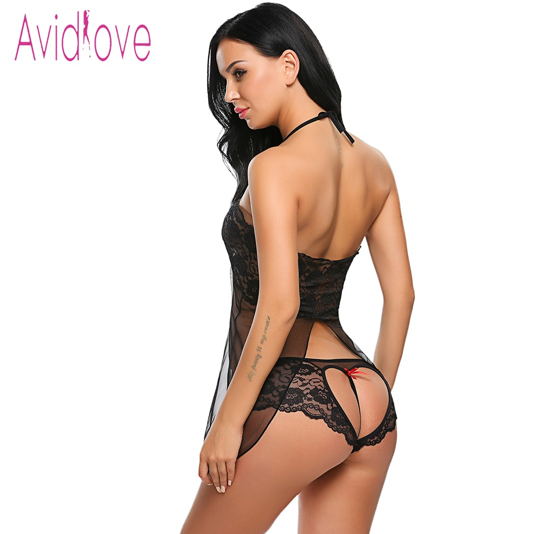 Avidlove Lingerie Sexy Hot Erotic Porn Babydoll Vestido Mulheres  Transparente Lace Floral Noite Chemise Lingerie Roupas Do Sexo Fantasia em  Babydolls ... ff0295d595f