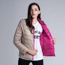 Winter Coat Women Ultralight Duck Down Reversible Jacket Lightweight Outwear Slim Plus Size 3XL Casual Female Clothing