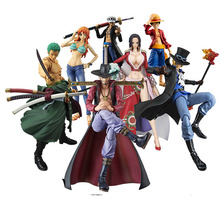 18cm One Piece figma Luffy Sabo Zoro Sanji Nami Boa Hancock heroes    PVC action Figure Collectible Model Toy