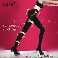 Female Medical Elastic Stockings For Varicose Veins Barreled Anti Varicose Fat Burning Stovepipe Pants