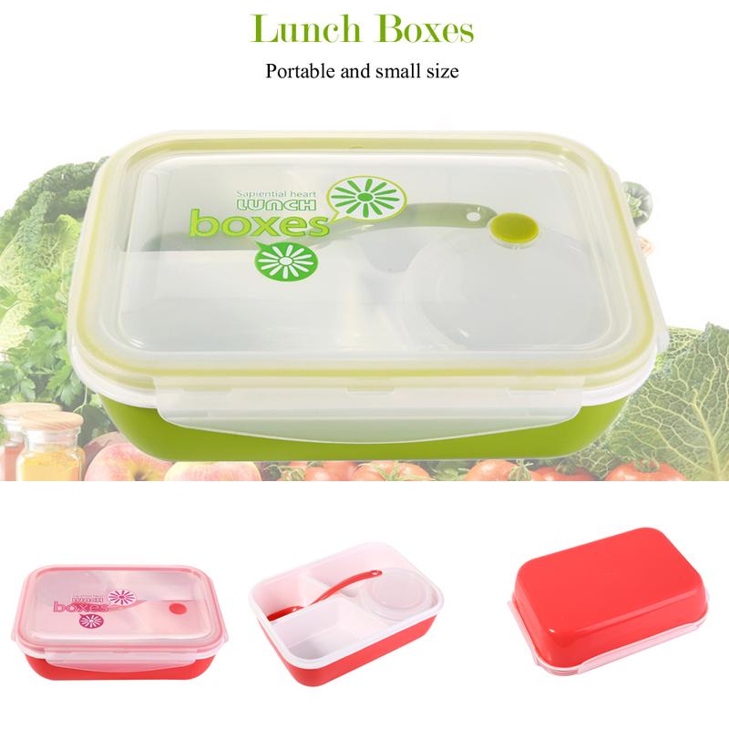 portable lunchbox 4 compartments bento lunch box set. Black Bedroom Furniture Sets. Home Design Ideas