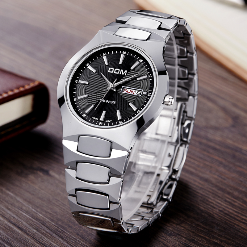 DOM 2016 Mens Watches Top Brand Luxury Quartz Watch Fashion Brand Tungsten Steel Waterproof Watch Montre