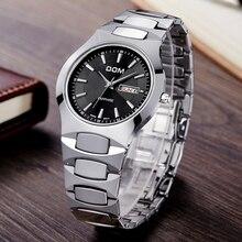 DOM  Mens Watches Top Brand Luxury Quartz Watch Fashion Brand Tungsten Steel Waterproof Watch Montre Luxury Watch Casual W-624