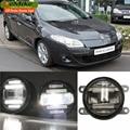 Eemrke Xenon branco de alta potência 2em1 LED DRL luz de nevoeiro com lente do projetor para Renault Megane 2 2002 - 2007 / 3 2008 - 2016