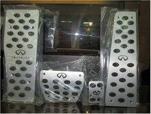 Para todo el año el Infiniti G35 G25 EX FX Gm Nuevo aluminio Gas Combustible Pie Del Freno Del Resto pedales Deportivos pedal car covers almohadillas