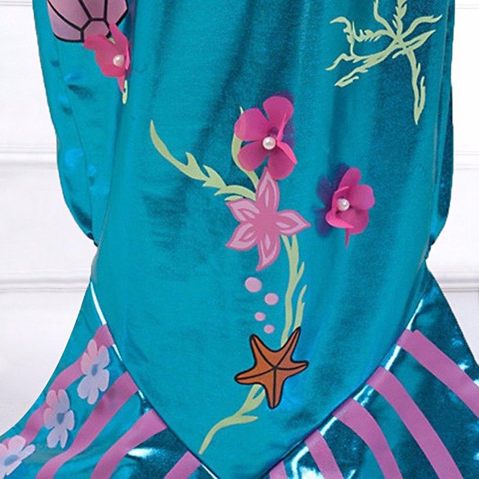 Girls Little Mermaid Summer Princess Dress (9)