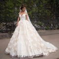 Vintage Long Wedding Dresses 2017 Robe De Mariage Bridal Party Couture Ball Gowns Short Sleeves Fairytale Princess Plus Size
