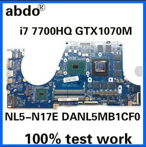 NL5-N17E DANL5MB1CF0 for CLEVO X7A Notebook Motherboard CPU i7 7700HQ GTX1070M 8G DDR4 100% Test Work(China)