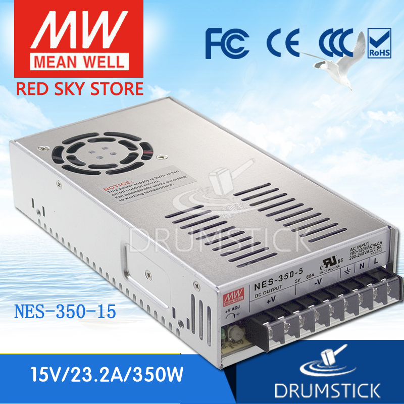 Hot! MEAN WELL NES-350-15 15V 23.2A meanwell NES-350 348W Single Output Switching Power Supply цена