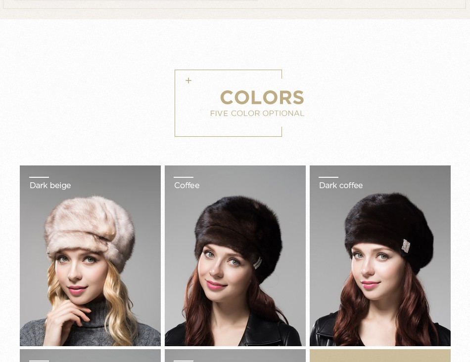 mink fur hat female winter PCM027 (4)