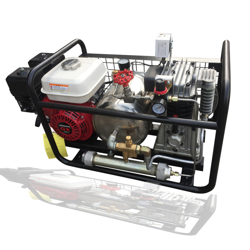 Davv original 3hp 8bar gas powered air compressor for for Air compressor for pool closing