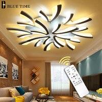 Современный светодиодный Люстра для гостиной, спальни, столовой, потолочный светодиодный светильник, люстра, освещение черного и белого цв...
