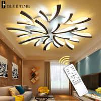 Lustre LED moderne pour salon chambre salle à manger plafonnier LED lustre éclairage noir et blanc luminaires