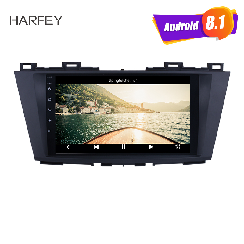 Harfey Car Multimedia Player 9 Android 8 1 GPS Navigation System for Mazda 5 2009 2010