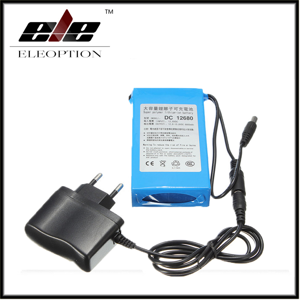 Eleoption DC12680 6800mAh 12V Rechargeable Battery rechargeable batteries For wireless transmitters CCTV camera