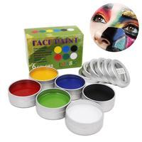 IMAGIC Nontoxic Face Paint Palette Body Painting Flash Tattoo 6 Colors Set Halloween Makeup Temporary Tatoos