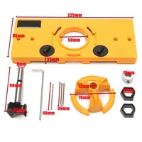 NEW 35mm Hinge Drilling Jig + 35mm Bit Set Guide Hole Puncher Hole Locator DIY Woodworking Tool