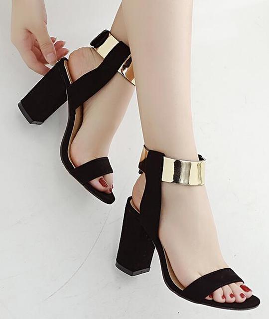 2858478ea4 2017 Zapatos Mujer summer sandalias de salto ankle strap women sandals high  heels women s pumps shoes