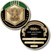 High quality army commendation medal Hot sale usa good conduct low price custom us service coins hl600039