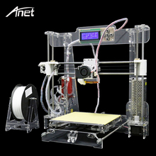 2017 Desktop Precision Reprap Prusa i3 3D Printer Aluminum Hotbed Upgraded Big Size 3D Printer Kit DIY Gift Filament 8GB SD card